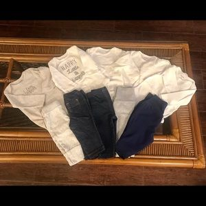 Bundle of 11 pieces Boy Long Sl Onesies, Pants 3m